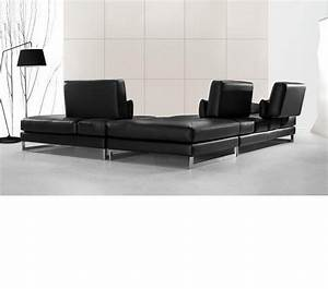 Black leather sofas best s3net sectional sofas sale for 3 piece black modern sectional sofa