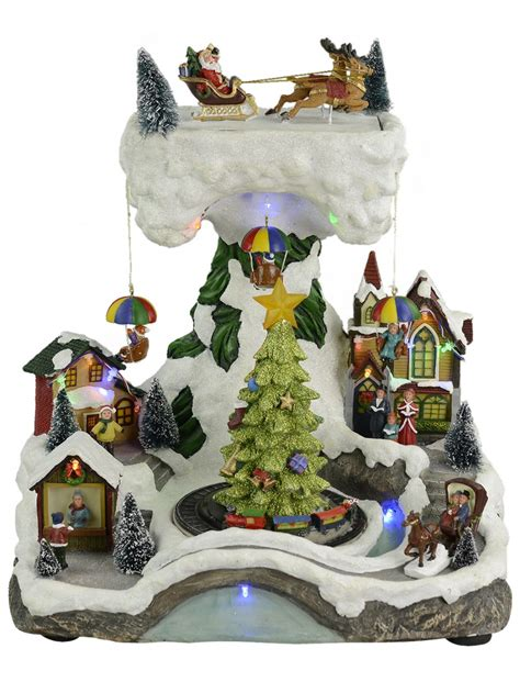 illuminated animated musical christmas winter village