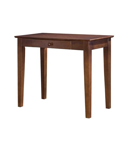 36 Inch Shaker Writing Table Bare Wood Fine Wood