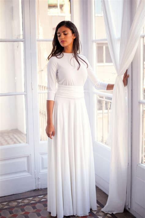 Long Sleeve Ivory Wedding Dress  Frida Essential  Mimetikbcn. Unique Wedding Dresses Northern Ireland. Extremely Casual Wedding Dresses. Modest Wedding Dresses In Denver. Empire Waist Wedding Gown Patterns. Designer Wedding Dress Ahmedabad. Simple Wedding Dress Jewelry. Boho Wedding Gown Designers. Wedding Dresses Biker Style