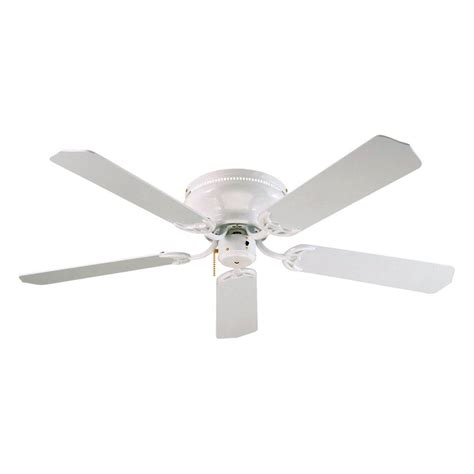 lowes flush mount white ceiling fans shop royal pacific royal knight 52 in white flush mount