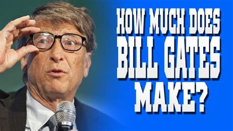 How Much Money Does Bill Gates Have a Second Text ...