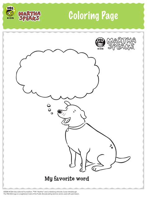 martha speaks coloring pages  kids updated
