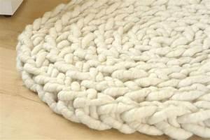 Dicke Wolle Fur Teppich Wollteppich Aus Filzseil Geh Kelt