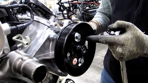 cherokee jeep 2000 installing power steering bracket and pump youtube