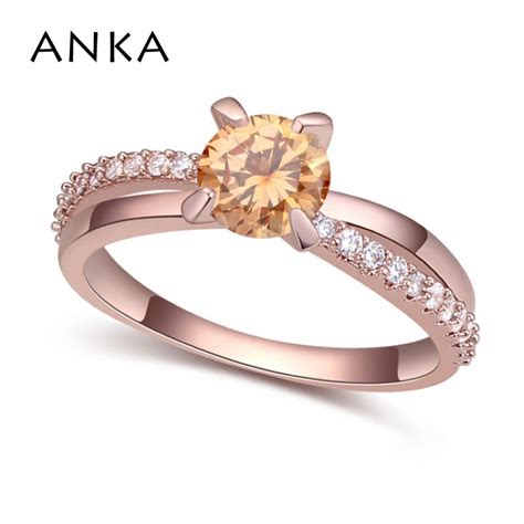 anka new design charm luxury classics rings for wedding ring with zirconia rose gold