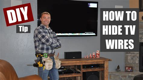 hide tv wires code compliant tv wiring youtube