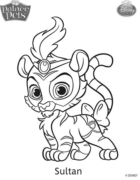 Princess Palace Pets Coloring Pages Coloring Pages