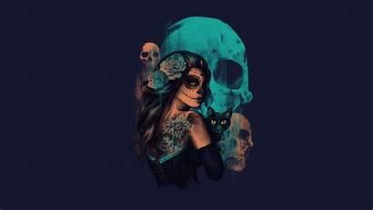 Skull Sugar Skulls Wallpapers Desktop Artwork Fantasy