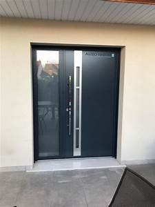 Porte D Entrée Tiercée : auzeo habitat nos r alisations portes d 39 entr e aluminium ~ Carolinahurricanesstore.com Idées de Décoration