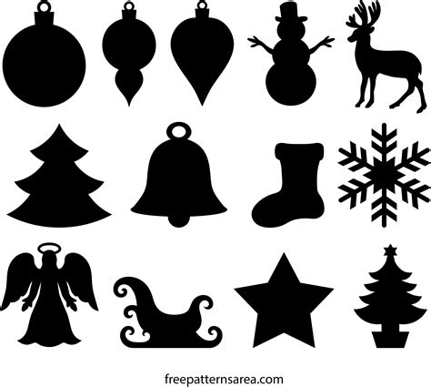 winter  christmas ornament cutouts wood templates