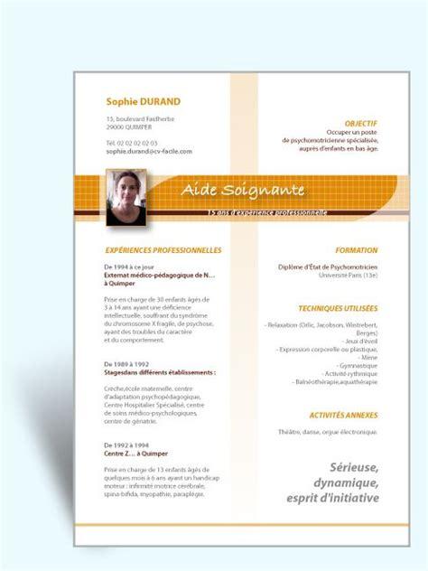 Aide Cv Gratuit by Mod 232 Le Cv Original Aide Soignante Boules 224 Neige