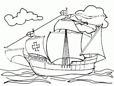 Christopher Columbus Coloring Pages Printable by Pinta Santa Coloring Pages Coloring Home
