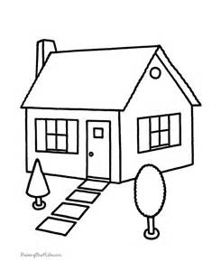 house coloring book pages 001