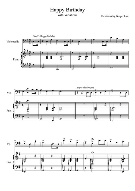 Everyone needs to know how to play happy birthday on the here are two super easy versions of happy birthday in middle c position. Happy Birthday, with Variations sheet music download free in PDF or MIDI