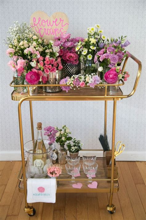diy flower crown bar future wedding bridal shower