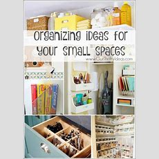 Organize Small Spaces  Our Thrifty Ideas