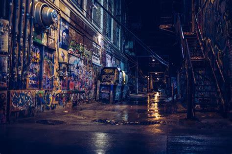wallpaper city street cityscape night building
