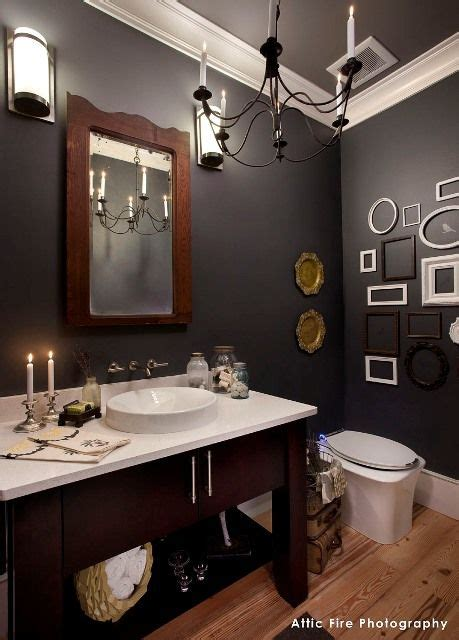 powder room paint colors walls flint af 560 trim steam