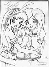 Coloring Friends Pages Friend Forever Drawing Printable Drawings Lineart Teenage Colour Getdrawings Getcolorings Deviantart Popular Coloringhome Login Colorings sketch template