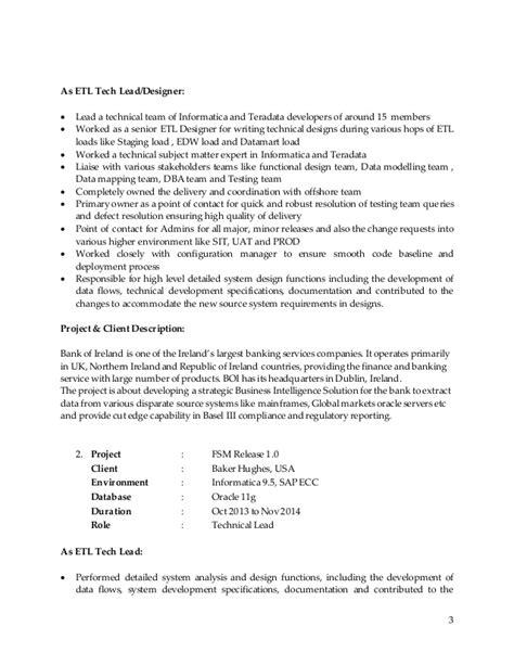 informatica teradata sle resume rakesh sr dwh bi consultant resume