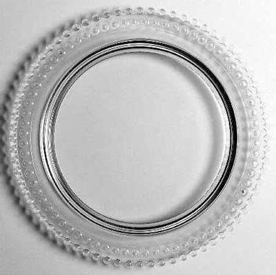 imperial glass candlewick clear birthday cake plate holds