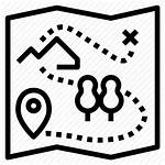 Treasure Map Icon Adventure Camping Icons Coloring