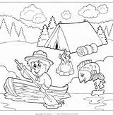 Coloring Pages Camping Scout Boy Clipart Boating Campground Outlined Past Camp Cub Printable Print Scouts Clipartscout Sheets Visekart Royalty Activities sketch template