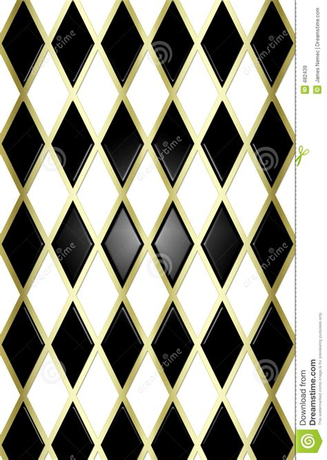 blackwhitegold harliquin background royalty  stock