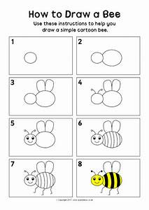 How To Draw A Bee Instructions Sheet  Sb12296