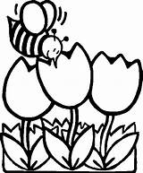 Coloring Bee Outline Pages Mosaic Honey Spring Tulips Printable Fat Garden Bees Children Drawings Flowers Para Colorear La Flying Animales sketch template