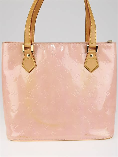 louis vuitton baby pink monogram vernis houston bag yoogis closet