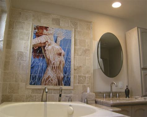 bathroom tile mural home design ideas pictures remodel