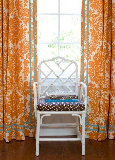 orange damaskthese   curtains  wanted  find