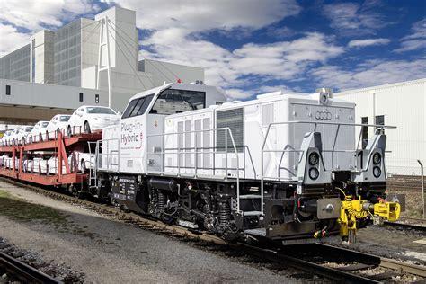 audi unveils plug  hybrid diesel locomotive
