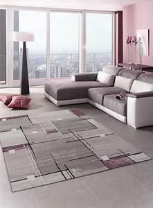 Tapis Salon Moderne : tapis de salon moderne nova pourpre ~ Teatrodelosmanantiales.com Idées de Décoration
