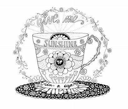 Coloring Starbucks Coffee Pages Cup Sunshine Adult