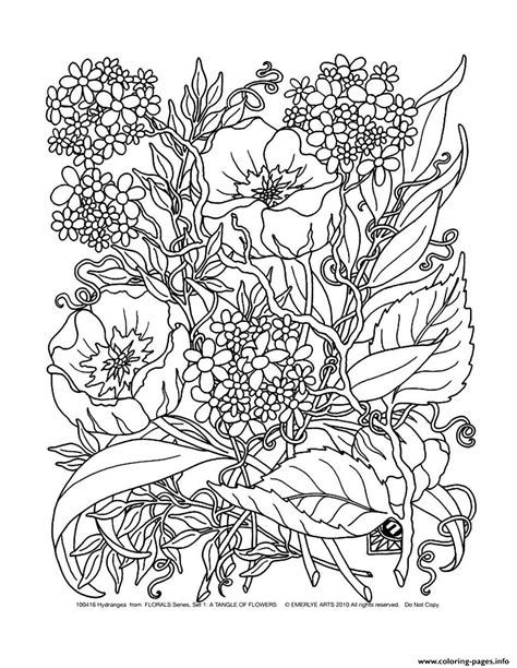 Adult Savage Flowers Coloring Pages Printable