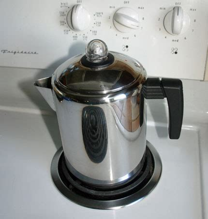 coffee pot on stove coffee with a stove top percolator