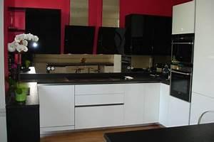 Cuisine Blanc Et Noir : cuisine noir et blanc ~ Voncanada.com Idées de Décoration