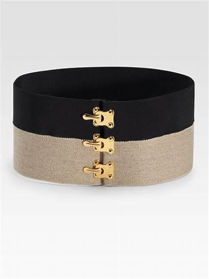 Belt Elastic Prada Khaki
