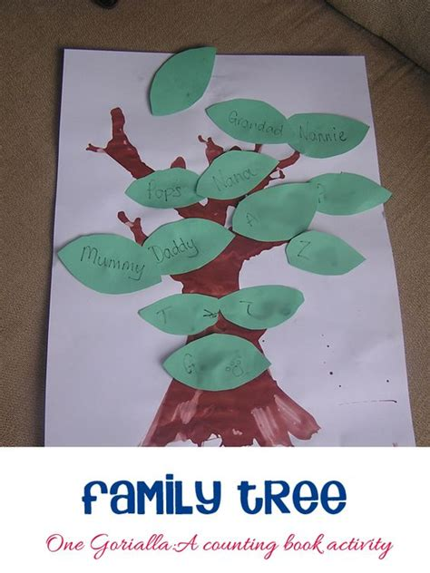 a family tree activity to go with one gorilla by anthony 194 | 620b14491d9bb90e4324e670855e5f62