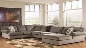 Ashley furniture sectional sofa large sectional sofa for Sectional sofas xl