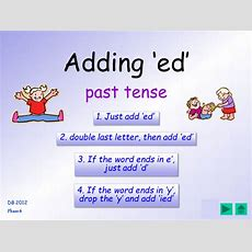 Phase 6 Past Tense 'ed' Suffix, 4 Different Spelling Rules For This Suffix  Table Cards, Ppt