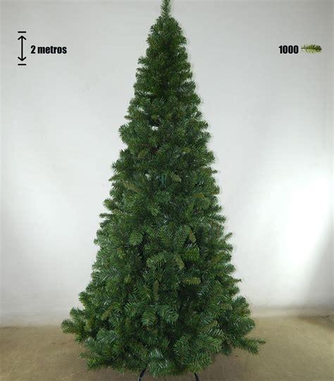 arbol navidad artificial fino slim de 2 metros