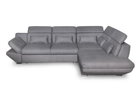 canape tissu convertible canapé convertible avec tiroir tissu gris foncé bali