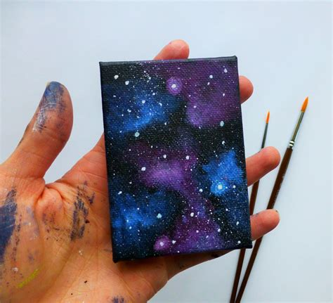 galaxy canvas mini painting fridge magnet magnet