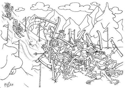 Kleurplaat Pozen by Kleurplaat Scouts Op Winterk 2 Afb 8731