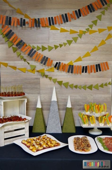 Mountain Themed Boy Baby Shower