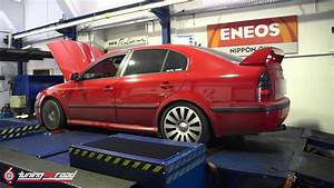 Skoda Octavia 20vt Stock Engine Big Turbo Dyno By Tuning